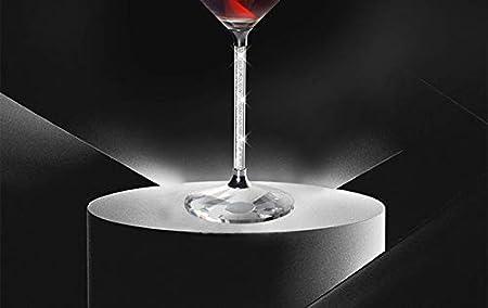 ZKHD Copa de Vino Borgoña de Lujo, Vidrio Transparente Cristal soplado a Mano (Conjunto de Caja de Regalo de 2,20 oz)