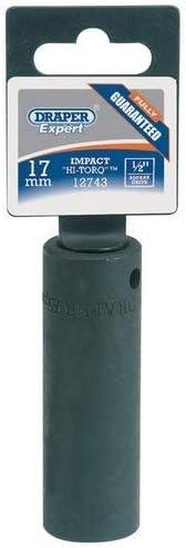 Draper 12737 1//2-inch Drive 10mm Deep Impact Socket