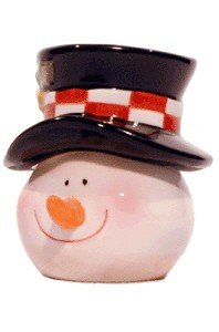 (Snowman Head Salt & Pepper Stackable 2Pc)