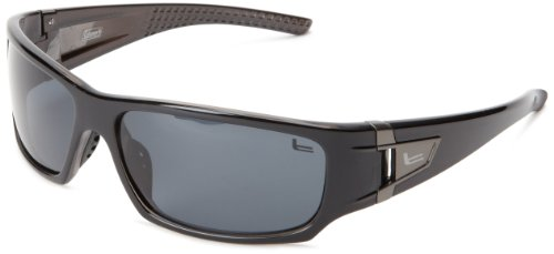 Coleman Grizzly Polarized Rectangular Sunglasses,Shiny Black,139 - Reading Glasses Collection Polarized