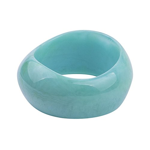 TIANMI Women Plastic Acrylic Bangle Cute Color Bracelet for girls (Blue)