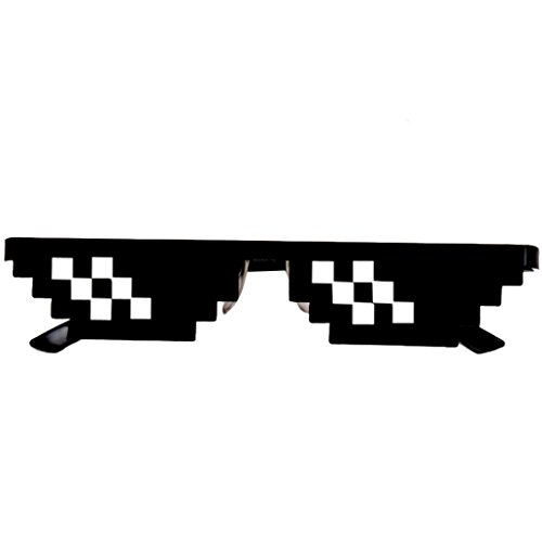 Lifestyler Thug Life Glasses 8 Bit Pixel Deal With IT Sunglasses Unisex Sunglasses Toy - Watch The Can With Eclipse You Solar Sunglasses