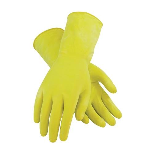Pack of 12 PIP 48-L140Y//S Assurance Unsupported Flock Lined Glove with Honeycomb Grip Yellow 12 Length S Size