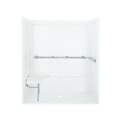 Shower Compliant Ada (Sterling Plumbing 62070125-0 ADA 39-3/8-Inch x 63-1/4-Inch x 72-Inch Shower Kit, White)