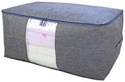 布団収納袋 SLMJMY 布団収納ケース 布団収納 羽毛布団収納袋 衣類収納 防虫 防カビ 綿麻、PVC防水素材製 手洗い可 (XL)