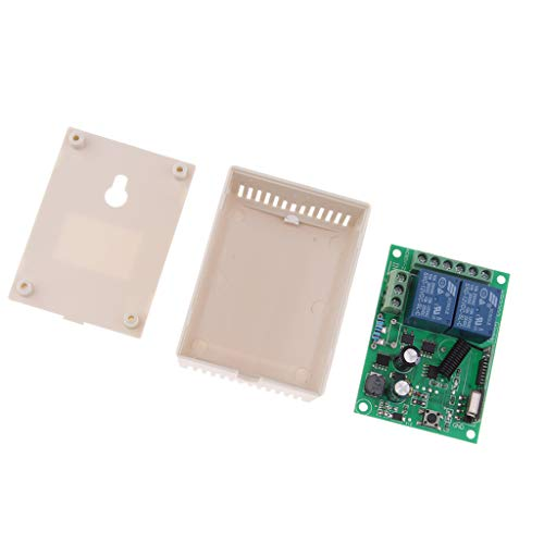 Price comparison product image Prettyia 433Mhz Wireless Remote Control Switch AC85V—AC220V 2CH Relay Receiver Module