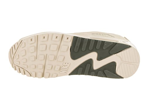 Nike Herren Air Max 90 Essential Beige Leder/Synthetik Sneaker Beige (Light Orewood Brown/River Rock/White)