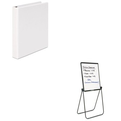 KITQRT101ELUNV20962 - Value Kit - Quartet Ultima Presentation Dry Erase Easel (QRT101EL) and Universal Round Ring Economy Vinyl View Binder (UNV20962)