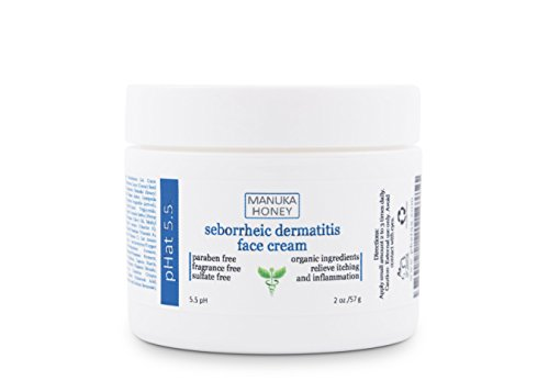 Seborrheic Dermatitis Cream (2 oz) by pHat 5.5 - Face and Body Skin Treatment with Manuka Honey and Aloe Vera for Sensitive Skin