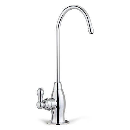 Bar Chr (iSpring GK1-CHR Heavy Duty Contemporary Style High Spout Kitchen Bar Sink Drinking Water Faucet, Chrome)