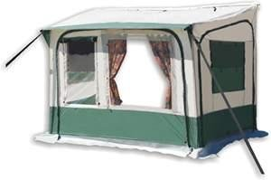 CARAVAN AWNING QUICK FIT PORCH PDQ GREEN IN 2 MINS