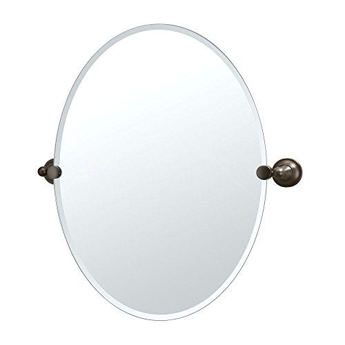- Gatco 4349 Tiara Oval Wall Mirror, Bronze