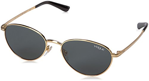 VOGUE Women's Metal Woman Oval Sunglasses, Gold, 53 - Sunglasses Vogue
