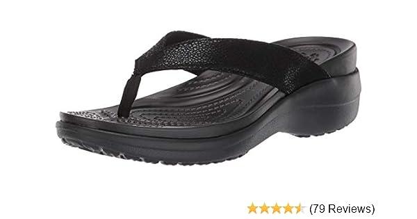 Crocs Flip Flops Women's Size 8w Pink Floral Excellent Quality In