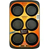 Baker's Secret 116466007 Basics Nonstick 6-Cup Texas Muffin Pan