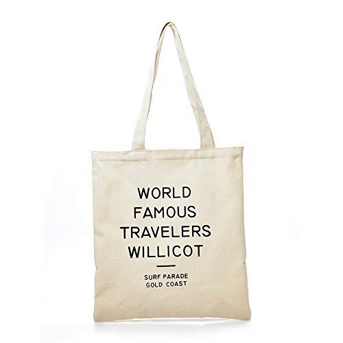 File Borsa Femminile Light bianco Spesa Viaggio Della In Tracolla Foumas Tela Shopping Willicot Semplice A Da Travelers rSq1wZr