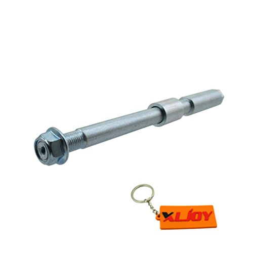 XLJOY 15mm Drilled Front Wheel Axle For SP/Marzocchi/Volt Adjustable USD Front Forks which are widely used on Chinese Pit Dirt Bikes