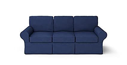 Amazon Com Custom Made Slipcovers For Pb Basic Sofa Navy Blue Home