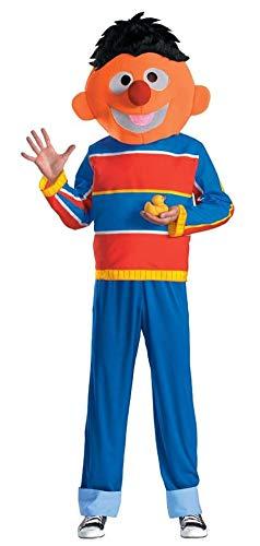 Disguise Men's Sesame Street Ernie Costume, Red/Blue/Tan/Black, Medium