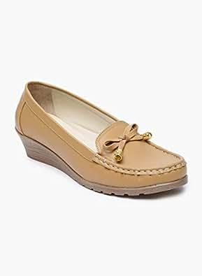 Monrow Tan Ballerina Shoes For Women, 38 EU