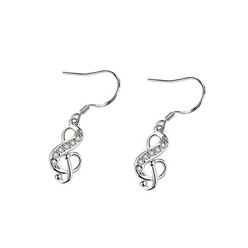 HOSOCHRIS Women Fashion Zircon Diamond-encrusted Long Earrings Elegant Personality Retro Geometric Earrings (A)
