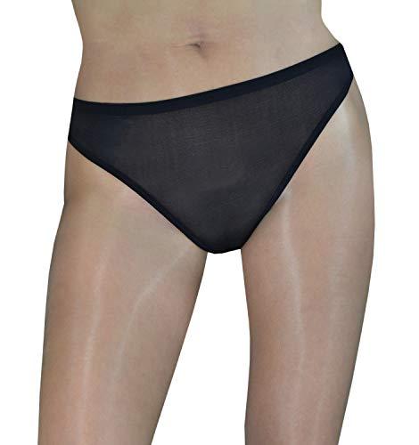 Lorelei - Sheer Seamless Peek-a-Boo Panties (Black)