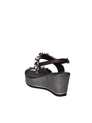 Sandales 20280 Noir SHOES GRACE Femmes compensées 8qEOzw1