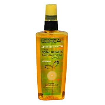 Loreal Total Repair 5 Multi- Restorative Dry Oil 3.4 Ounce 100ml 2 Pack
