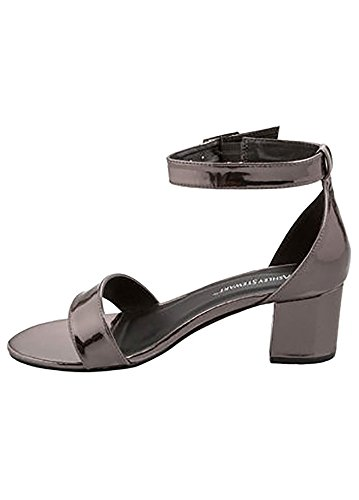 Charles Albert Free Reign Woman Chunky Heel Ankle Strap Sandals Wide Width (12, - Lovato Demi Rocker Style