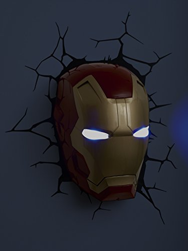 3d light fx marvel iron man mask 3d deco led wall light the 3d light fx marvel iron man mask 3d deco led wall light aloadofball Images