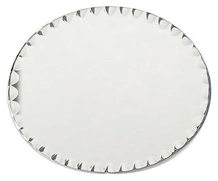 amazon com darice 1635 82 oval glass mirror with scallop edge 8 by