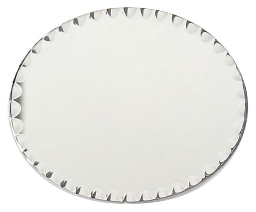 Darice 1635-82 Oval Glass Mirror with Scallop Edge, 8 by - Collection Beach Mirror Oval