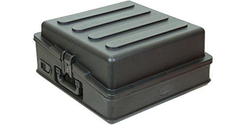 SKB 1SKB-R100 10U Top Mixer Rack Case, Steel Rails, Removable Door, Access Port by SKB