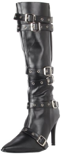 [Funtasma by Pleaser Women's Halloween Plunder-138X Boot,Black W/ PatentStraps,7 M] (Angel Halloween Costumes 2016)