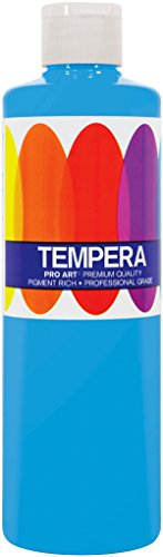 Pro Art Liquid Tempera Paint, 8-Ounce, Fluorescent (Blue Pro Paint)
