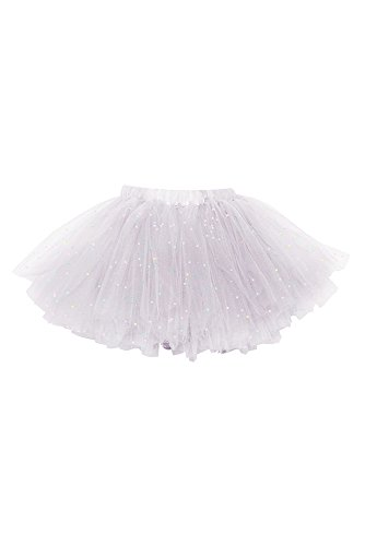 Joy by T.O Girls glittery tutu/Tutu escarchado de niñas (Wh..
