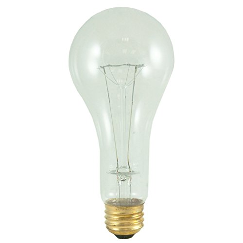 Perlite Lighting (Pack of 5) 200A/CL/HL/120 200-Watt A23 Clear E26 Base 120-Volt Light Bulb
