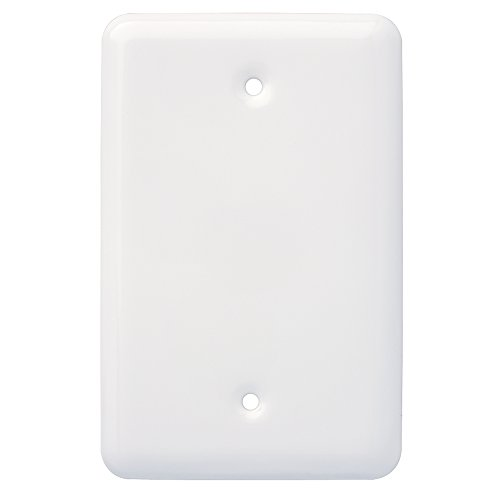- Franklin Brass W13731-W-C Stamped Round Single Blank Wall Plate/Switch Plate/Cover, White