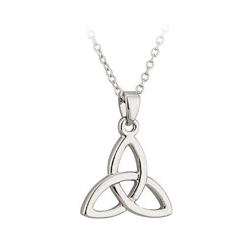 Tara Trinity Knot Necklace Celtic Irish Rhodium Plated Pendant Made in Ireland