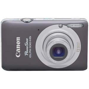 Canon Powershot 100 Hs 12.1 Megapixel Compact Camera - Gray Elph 100 Hs Gray 12.1mp 4x OPT Zoom 3in LCD 1080p Hd Video 3