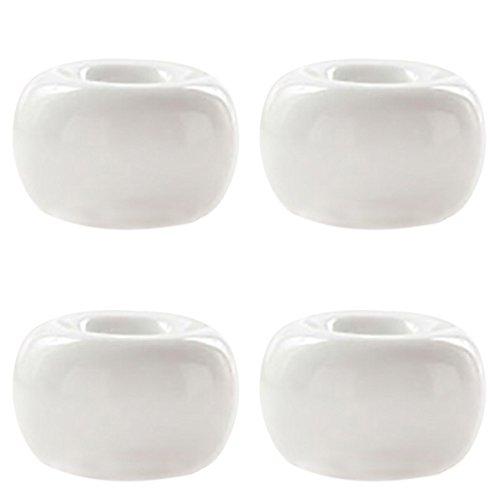 HanYan 4 Piece White Ceramics Toothbrush Holders Tooth Brush Stand Bathroom Countertops by HanYan