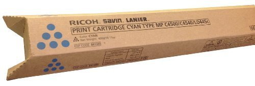 Ricoh Savin Lanier (841345) Cyan Toner for Models MP C4500, C4540, LD445c by Gestetner