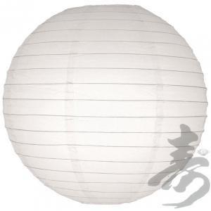 1X 20 Inch White Round Lantern