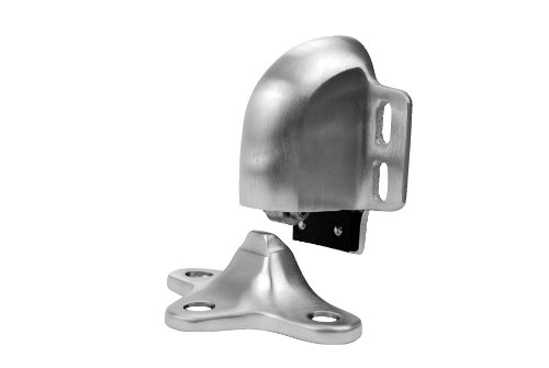 Chrome Cast Satin - Don-Jo 1521 Cast Brass Door Holder, Satin Chrome Plated, 3