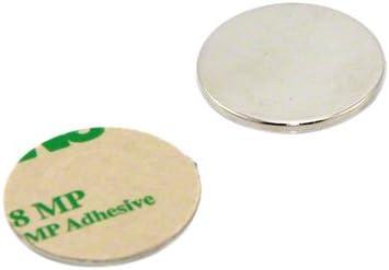 first3magnets F253-2 2 pezzi forza magnetica 5.5 Kg diametro 25 mm x spessore 4 mm Magnete al neodimio N42