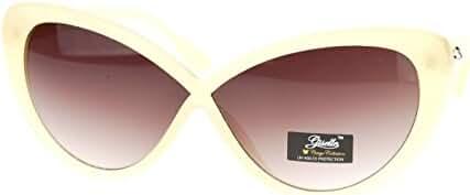 Giselle Womens Cross Bridge Narrow Rectangular Cat Eye Sunglasses