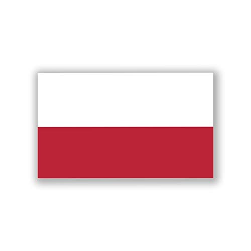 JMM Industries Poland Flag Vinyl Decal Sticker Rzeczpospolita Polska Polish Pole Car Window Bumper 2-Pack 5-Inches by 3-Inches Premium Quality UV-Resistant Laminate PDS511 (Polish Flag Car Decal)