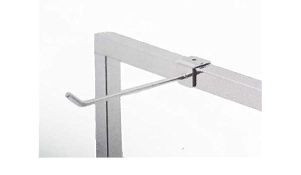Perchero portalibros para tubo, 25 x 25 mm, soporte lineal ...