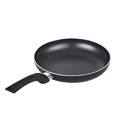 Cook N Home Nonstick 3 Piece Saute Fry Pan Set, 20cm/24cm/28cm, Black