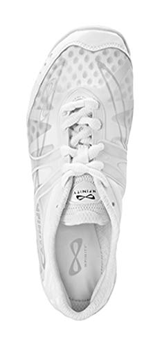 Nfinity NF-1010-0000 Vengeance Cheer Shoe (Pair), White, 9